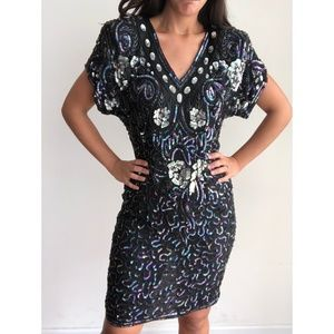 VTG Stenay silk sequines dress